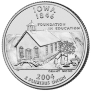 "¼ Dollar ""Quarter Iowa"" (cupronickel) -  revers"