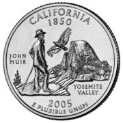 """¼ Dollar """"Quarter Californie"""" (cupronickel) -  revers"""
