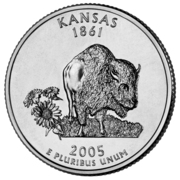 "¼ Dollar ""Quarter Kansas"" (Cupronickel) -  revers"