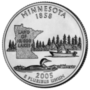 "¼ Dollar ""Quarter Minnesota"" (cupronickel) -  revers"