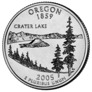 "¼ Dollar ""Quarter Oregon"" (cupronickel) -  revers"