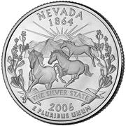 "¼ Dollar ""Quarter Nevada"" (cupronickel) -  revers"