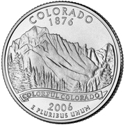 "¼ Dollar ""Quarter Colorado"" (cupronickel) -  revers"