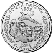 "¼ Dollar ""Quarter Sud Dakota"" (cupronickel) -  revers"