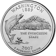 "¼ Dollar ""Quarter Washington"" (cupronickel) -  revers"