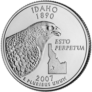 "¼ Dollar ""Quarter Idaho"" (cupronickel) -  revers"