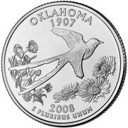 "¼ Dollar ""Quarter Oklahoma"" (cupronickel) -  revers"