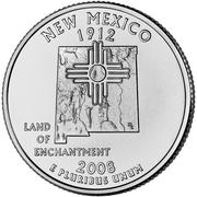 """¼ Dollar """"Quarter Nouveau Mexique"""" (cupronickel) -  revers"""