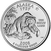 """¼ Dollar """"Quarter Alaska"""" (cupronickel) -  revers"""