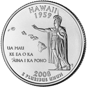 "¼ Dollar ""Quarter Hawaii"" (cupronickel) -  revers"