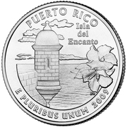 "¼ Dollar ""Quarter Puerto Rico"" (cupronickel) -  revers"