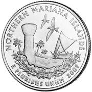 "¼ Dollar ""Quarter Northern Mariana Islands"" (cupronickel) -  revers"