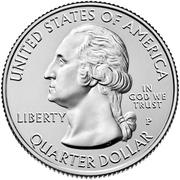 """¼ Dollar """"Quarter Hot Springs"""" (cupronickel) -  avers"""