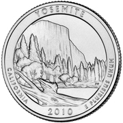 "¼ Dollar ""Quarter Yosemite"" (cupronickel) -  revers"