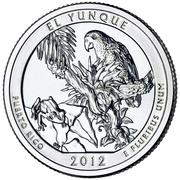 "¼ Dollar ""Washington quarter "" ( El Yunque National Forest) -  revers"