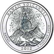 "¼ Dollar ""Washington Quarter"" (Hawai'i Volcanoes, Hawai'i) -  revers"