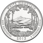 "¼ Dollar "" Washington quarter ( White Mountain - New Hampshire ) -  revers"