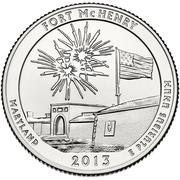 "¼ Dollar ""Washington Quarter"" (Fort McHenry) -  revers"