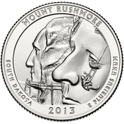 "¼ Dollar ""Washington Quarter"" (Mount Rushmore) -  revers"