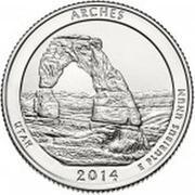¼ Dollar ''Washington Quarter'' (Arches National Park, Utah) -  revers