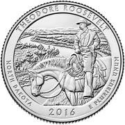 ¼ Dollar ''Washington Quarter'' (Theodore Roosevelt National Park) -  revers