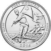 ¼ Dollar ''Washington Quarter'' (Fort Moultrie at Fort Sumter National Monument) -  revers