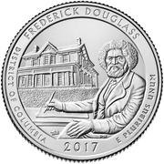 ¼ Dollar ''Washington Quarter'' (Frederick Douglass National Historic Site, District of Columbia) -  revers