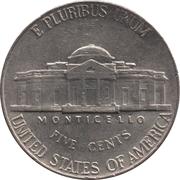 "5 cents ""Jefferson Nickel"" (1er portrait) -  revers"