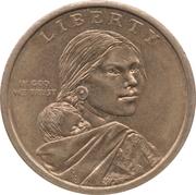 1 Dollar (Culture des trois sœurs) -  avers