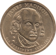 1 Dollar (James Madison) -  avers