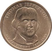 1 Dollar (Thomas Jefferson) -  avers