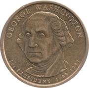 1 Dollar (George Washington) -  avers