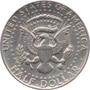 "½ dollar ""Kennedy Half Dollar"" (cuivre plaqué cupronickel, grand module) -  revers"