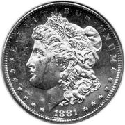 "1 dollar ""Morgan Dollar"" -  avers"