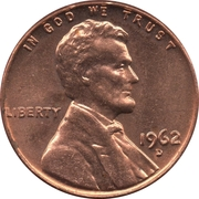 """1 cent """"Lincoln Memorial Penny"""" -  avers"""