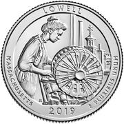 ¼ Dollar ''Washington Quarter'' (Lowell National Historical Park, Massachusetts) -  revers
