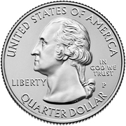¼ Dollar ''Washington Quarter'' (American Memorial Park, Northern Mariana Islands) -  avers