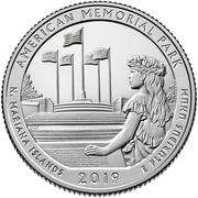 ¼ Dollar ''Washington Quarter'' (American Memorial Park, Northern Mariana Islands) -  revers