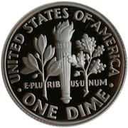 """10 cents """"Roosevelt Dime"""" (Argent) -  revers"""