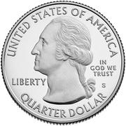 ¼ Dollar ''Washington Quarter'' (Frank Church River of No Return Wilderness, Idaho) -  avers
