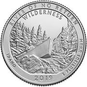 ¼ Dollar ''Washington Quarter'' (Frank Church River of No Return Wilderness, Idaho) -  revers