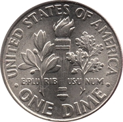 """10 cents """"Roosevelt Dime"""" (cupronickel) -  revers"""