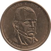 1 Dollar (James K. Polk) -  avers