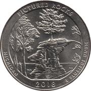 ¼ Dollar ''Washington Quarter'' (Pictured Rocks National Lakeshore, Michigan) -  revers