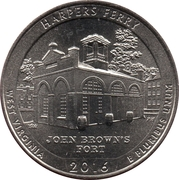 ¼ Dollar ''Washington Quarter'' (Harpers Ferry National Historical Park, West Virginia) -  revers