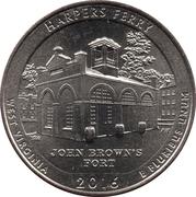¼ Dollar ''Washington Quarter'' (Harpers Ferry National Historical Park, West Virginia) -  revers