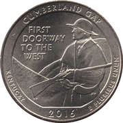 ¼ Dollar ''Washington Quarter'' (Cumberland Gap National Historical Park) -  revers