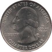"¼ Dollar ""Quarter Chickasaw National Recreation Area"" (cupronickel) -  avers"