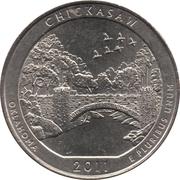 "¼ Dollar ""Quarter Chickasaw National Recreation Area"" (cupronickel) -  revers"