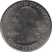 ¼ Dollar ''Washington Quarter'' (Effigy Mounds National Monument) -  avers
